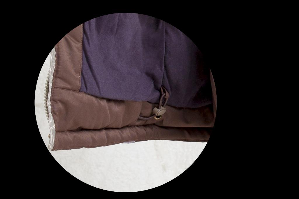Для регулировки куртки по ширине